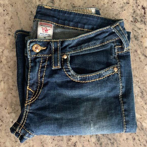 True Religion Crystal Button Jeans